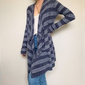 Barefoot Dreams Blue striped Bamboo Chic Sweater